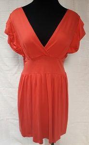 Banana Republic, cotton dress, coral, size M